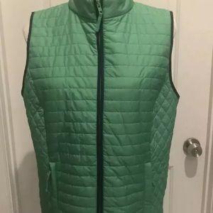Talbots Green Qulited Women's Vest